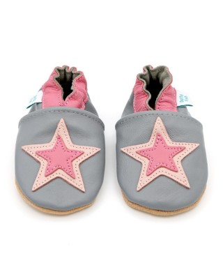 Ciabattine Grey And Pink Star