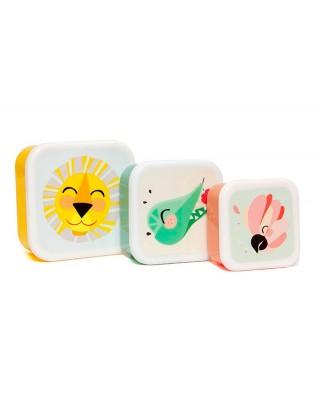 Set 3 Lunchbox Shiny Lion