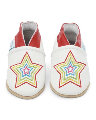 Ciabattine White Rainbow Star